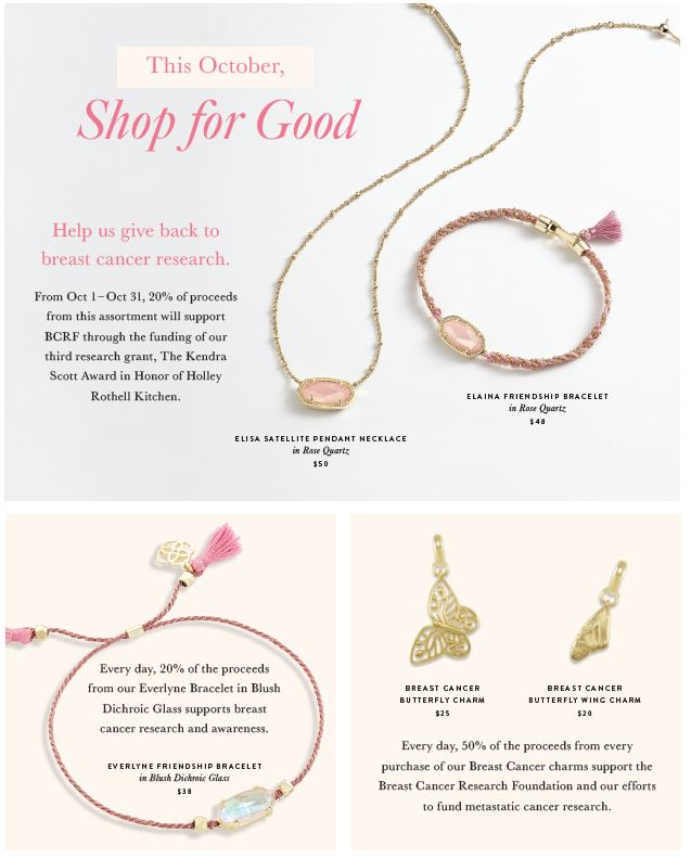 Assorted pink and gold jewelry